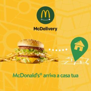 Al McDrive® servizio da asporto, fino alle 22.00; con McDelivery™, fino alle 23.00